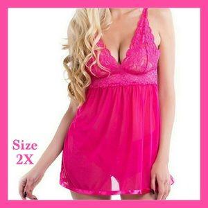 BNWT- Hot Pink Lingerie w/ Panties
